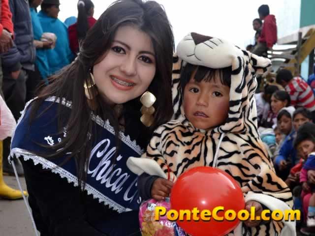 Agasajo PonteCool a los niños de escasos recursos en Quisapincha