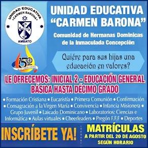 Unidad Educativa Carmen Barona