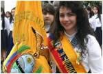 Unidad Educativa La Inmaculada Juramento a la Bandera 2013