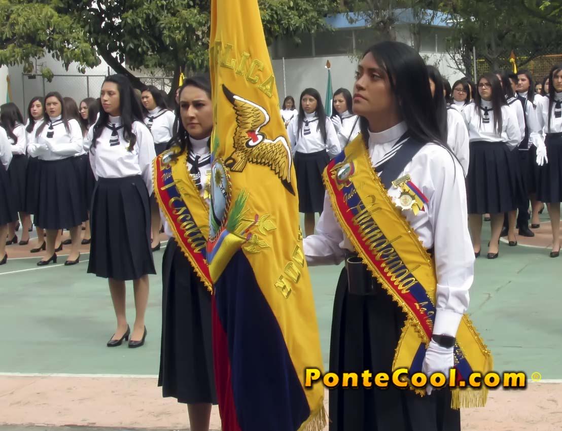 Juramento de la Bandera en la U. E. La Inmaculada