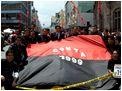 Desfile del Instituto Superior Bol�var de Ambato por sus 150 a�os