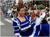 Desfile fiestas de las flores y frutas Ambato 2009